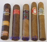 ROBUSTO/CORONA ProbierGenuss-Assortment, 5 edle Cigarren